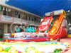 Inflatable car toy water slide for sale