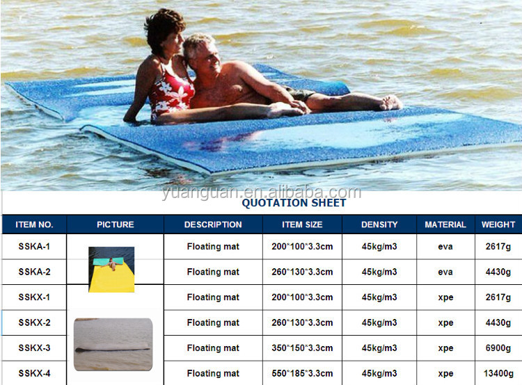 2015 Xpe Swimming Pool Floating Mat/water Floating Mats - Buy 2015 ...