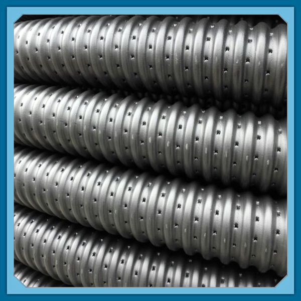 Hdpe Perforated Corrugated Permeable Drain Pipe With