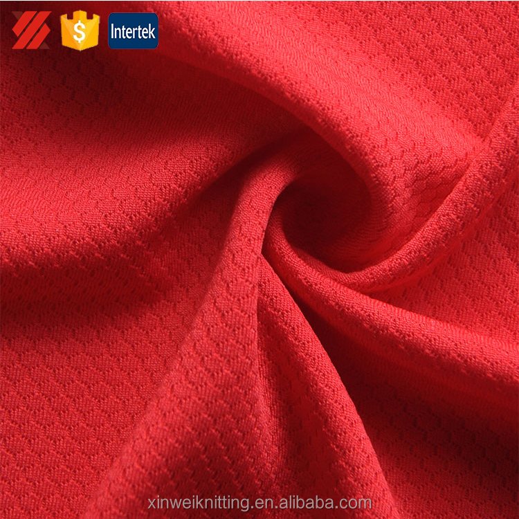 Fuzhou manufacture supply polyester mesh fabric sport dry fit fabric for sportswear,shirt,etc