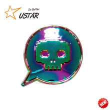 China Wholesale Custom Rainbow Plating Metal Lapel Pin/cheap custom badge