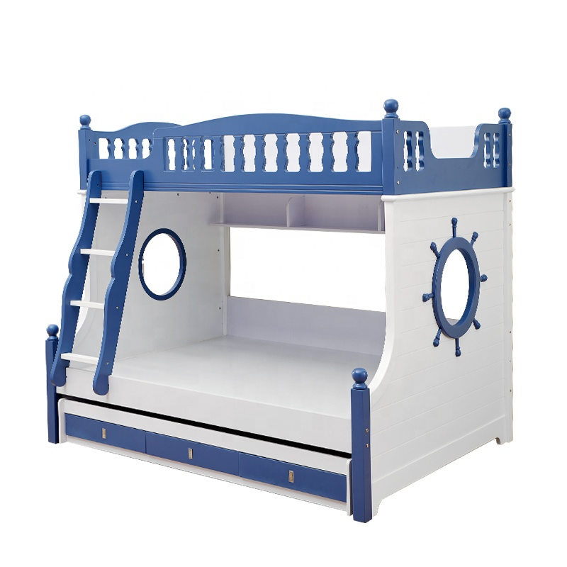 Factory direct sale pirate blue bunk <strong>bed</strong> for kids