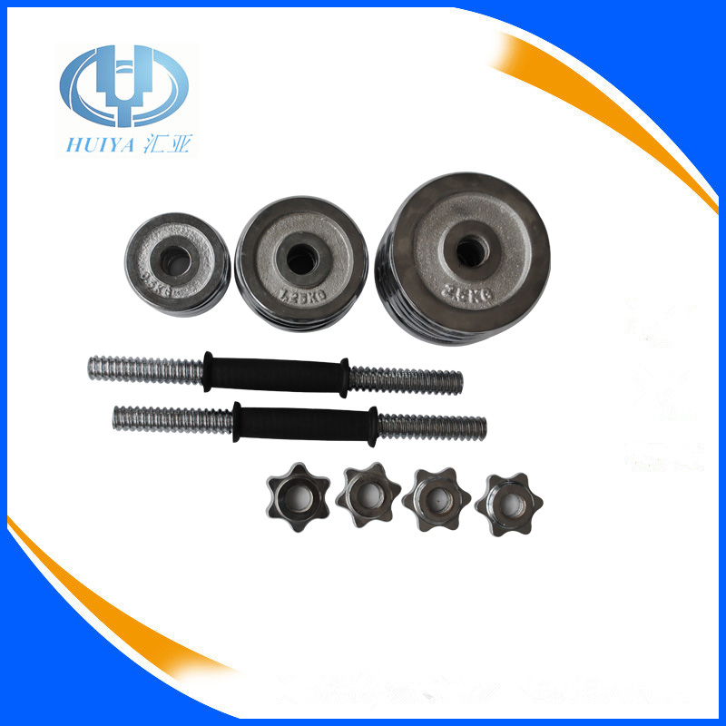 Hebei Dingzhou wholesale 20kg chrome cheap cast iron dumbells