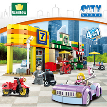 Hot new Electronic block toy city series building block July Hotel Star rating coffee shop games model kids toy