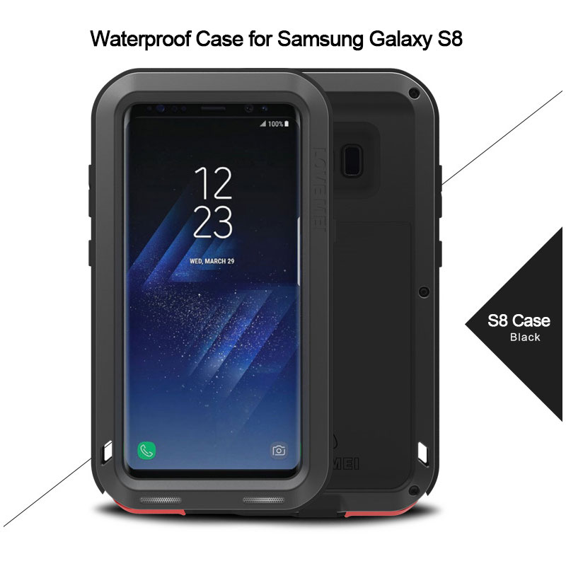 Tri-proof case waterproof shockproof case for galaxy A3 A4 A5 Note 4 S6 Edge S7 S8 plus for iPhone 5 6 7 7 plus waterproof phone