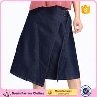 2017 Latest Fashion Short Design Factory Woman Jean Skirt