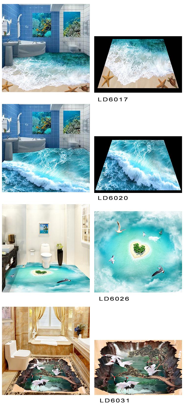 Kids Bathroom Flooring Hot Design Foshan Factory Micro Crystal Ceramic 3d Flooring Prices