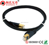 flat cat6 cat7 rj45 patch cable FTP shielding with gloden