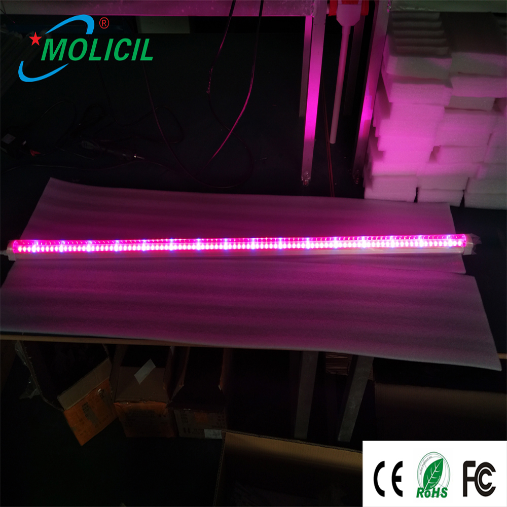 hydroponics high efficient T8 18W UV IR Red blue wall mounted light plant grow light 2017