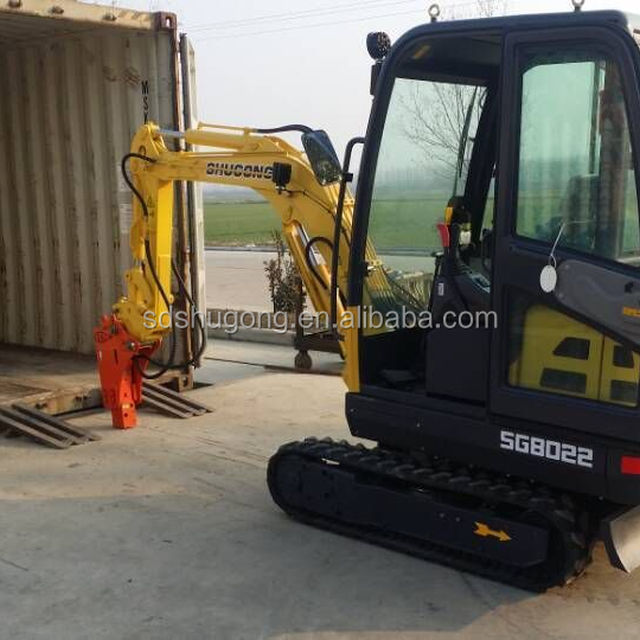 Small used broken excavator for sale SG8022Yanmar Engine Reinforced rubber track
