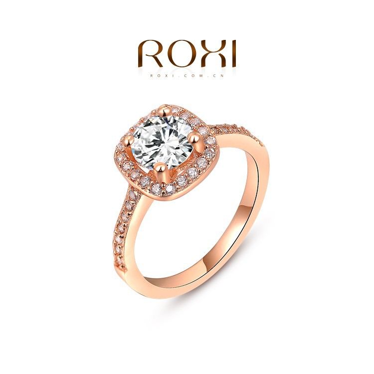 Roxi Fashion Jewelry Delicate Aaa Zircon Wedding Ring With Copper ...