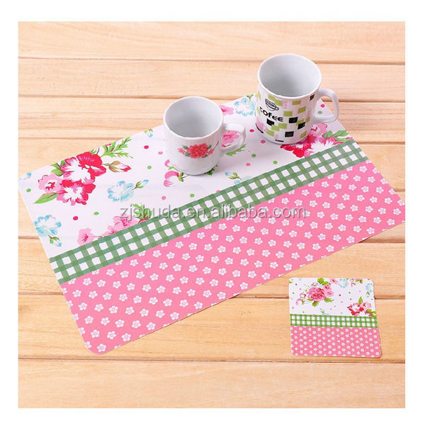 Perfect Flower Pattern Pp Placemats/plastic Dining Table Mats