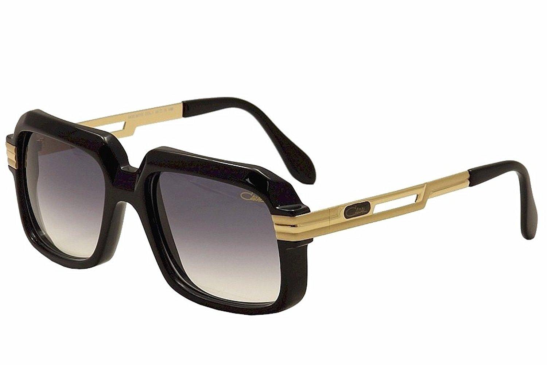 0b0739a850 Get Quotations · Cazal Vintage 607 2 Sunglasses 001SG Black Shiny Matte  Gold 556 mm