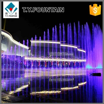 Outdoor Floor Water Fountains Land Music Dancing Fountain