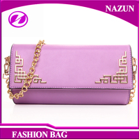 2016 Latest cheap fancy trendy PU travel woman magic leather wallet clutch bag for lady