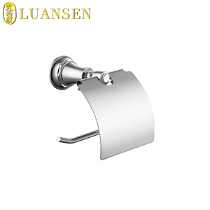 Modern styles brass made wall mounted bathroom toilet roll tissue paper dispenser