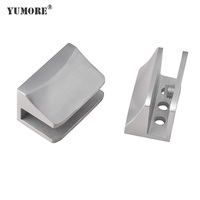 HOT SALE SS304 Metal Glass Shelf Bracket Clips Support