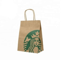 Custom Logo Printed Cheap Eco Recycle Take Away Food Packaging Brown Craft Paper Bag With Handles