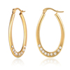 Fashion Studs 24K Crystal Jewelry Gold Plated Earring Designer Women Hoop Earrings