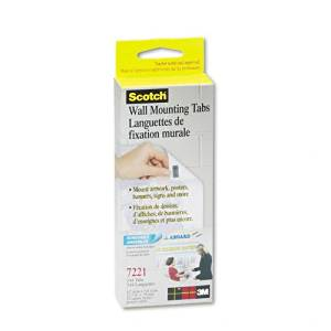 Scotch : Precut Removable Mounting Tabs, Double-Sided, 1/2 x 3/4, 144/pack -:- Sold as 2 Packs of - 144 - / - Total of 288 Each