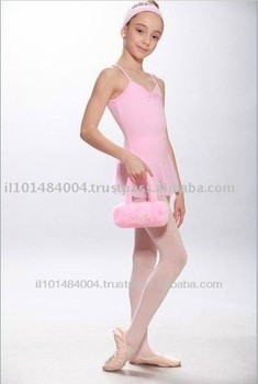 Pink Color Ballet Cute Designed Girls Cosmetic Bag