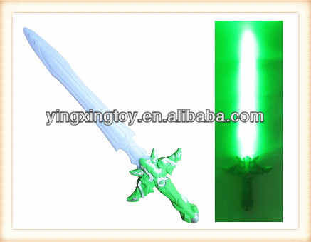 New product plastic kids toy led flashing sword