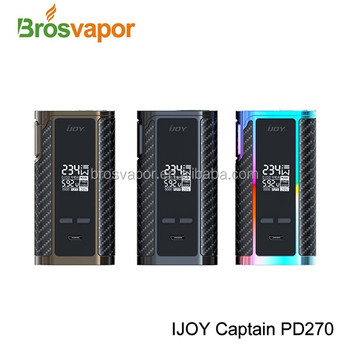 New design Poweful 6000mAh 20700 battery with 234W IJOY Captain PD270 TC BOX MOD