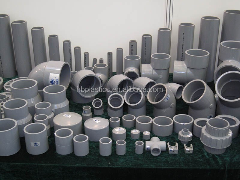 Full Types PVC Pipe Fittings Dimensions Manufacturer
