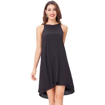 b8f4c40858e Kate Kasin Sexy Women Sleeveless Shallow V-Neck Two-Layer Cotton Dress  KK000645-