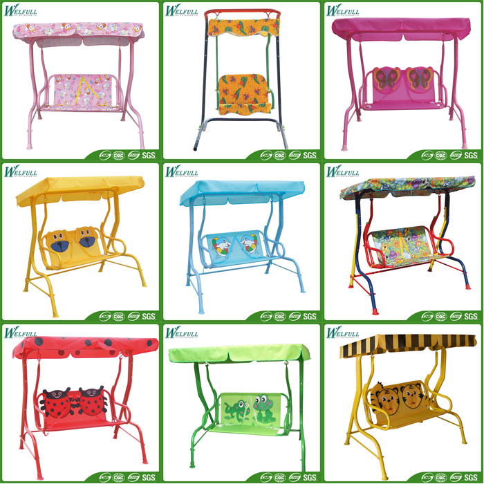 Outdoor Double Swing Chair Patio Furniture Kids