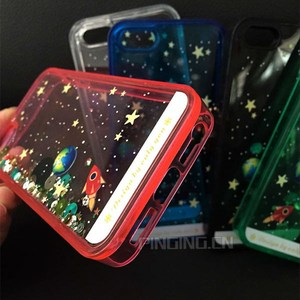 Alibaba Planet quicksand case for iphone5, glitter flowing liquid star case for iphone 5s