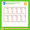 2 x 5 layout A4 size 10 chips rfid ntag213 inlay for nfc card making