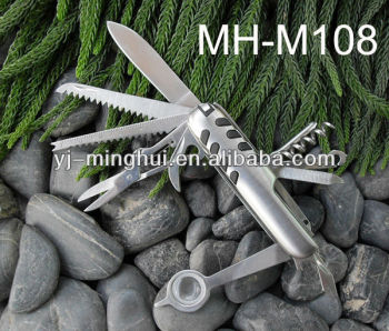 Multi purposes knife in stainless steel