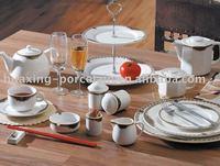 G57 restaurant wholesale white table dinner set porcelain