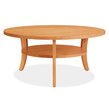 CT 014 Korea Design Birch Wood Base Round Coffee Tea Table