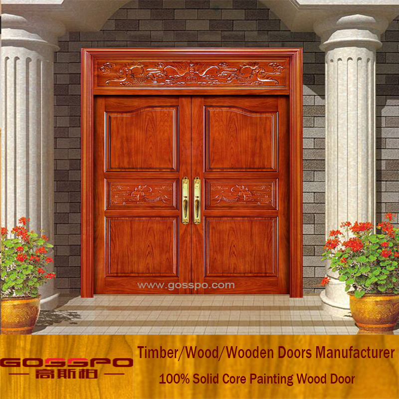 Kerala house main door design solid wood double door buy for Double door designs for home