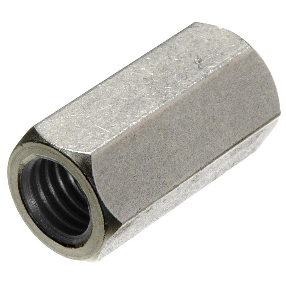 Length: 1 3//4 Width: 7//16 Quantity: 100 Zinc Plated Hex Coupling Nuts 1//4-20 x 7//16 x 1 3//4 Thread Size: 1//4-20 A563 Grade A Steel