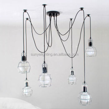 Simple Vintage Industrial Antique T8 Hanging Fluorescent