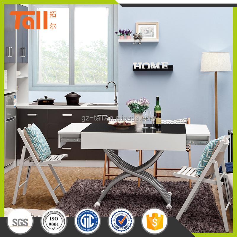 Venta caliente cuadrada de vidrio mesa de centro plegable mesa de comedor  de vidrio-Mesas de comedor-Identificación del ...