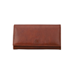 Online Shopping Fordable Genuine Vacchetta Leather Zipper Brown Purse For Male