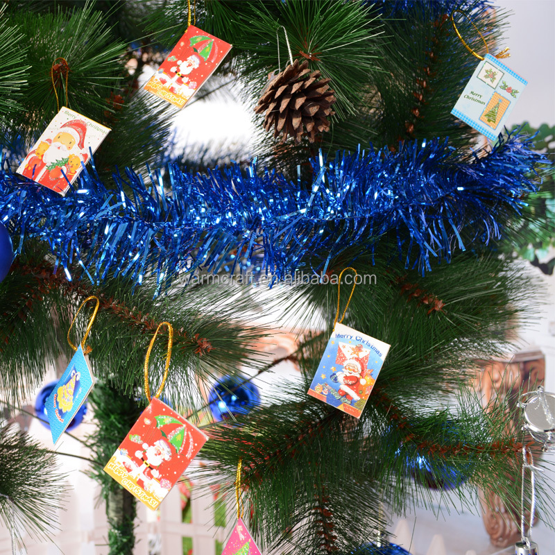 Hot Christmas Tree Hanging Ornaments best wishes card christmas xmas visiting greeting card with full color printing