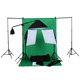 Photo Studio Black White Green Grey Background Backdrops Screen Stand Kit with Soft box light and Umbrella light set