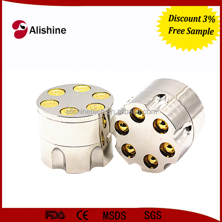 High quality 3 parts manual zinc diamond herb grinder with sharp teeth