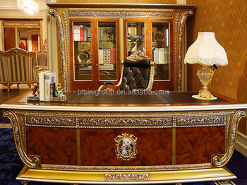 Incredible High End Luxury Italian Design Ceo Office Writing Desk With Antique Library Bibliotheque And Swivel Chair Bf12 07294A Buy Executive Desk Ceo Complete Home Design Collection Papxelindsey Bellcom