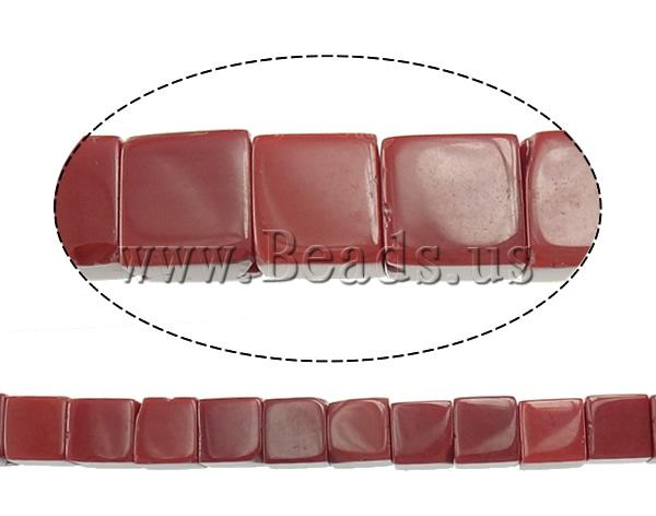 Free shipping!!!Jade Beads,One Direction, Jade Red, Cube, natural, 6x6x6mm, Hole:Approx 1mm, Length:Approx 15.5 Inch
