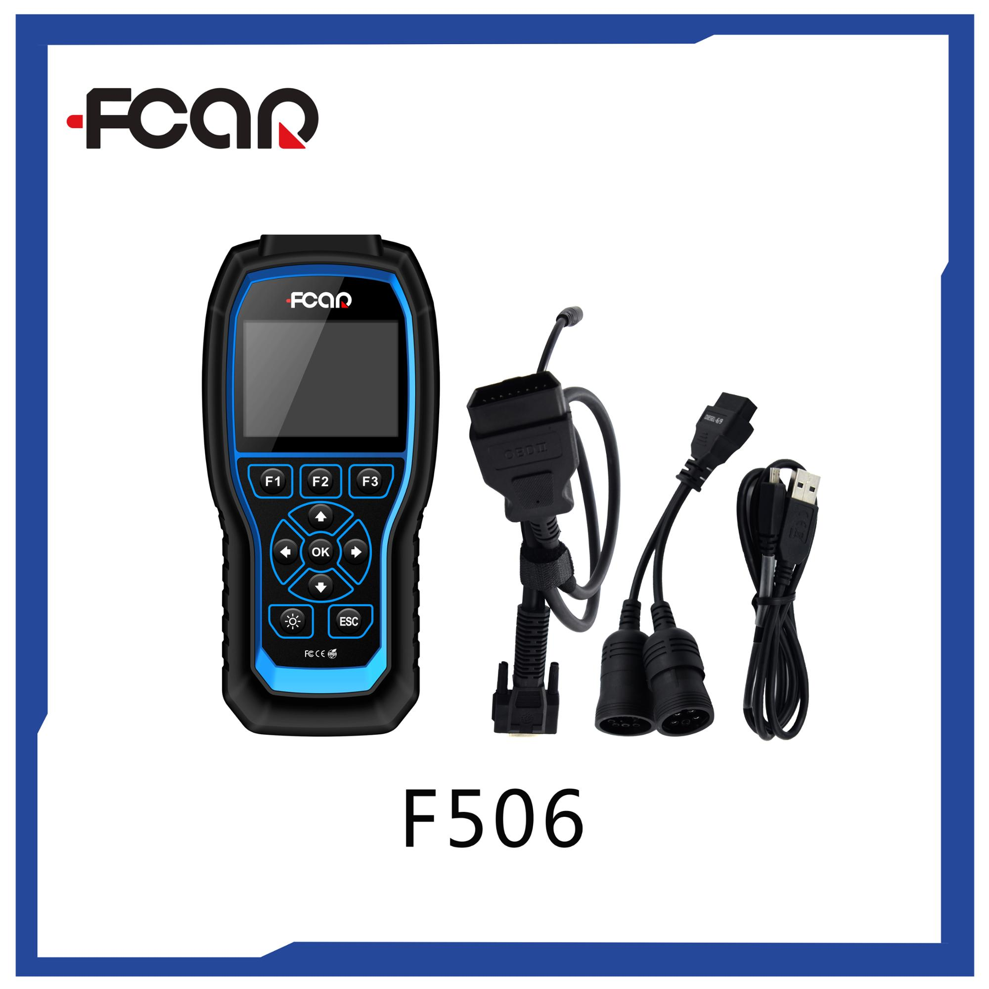 FCAR F506 OBD EOBD code reader for all cars diesel vehicles disagnostic scan tool