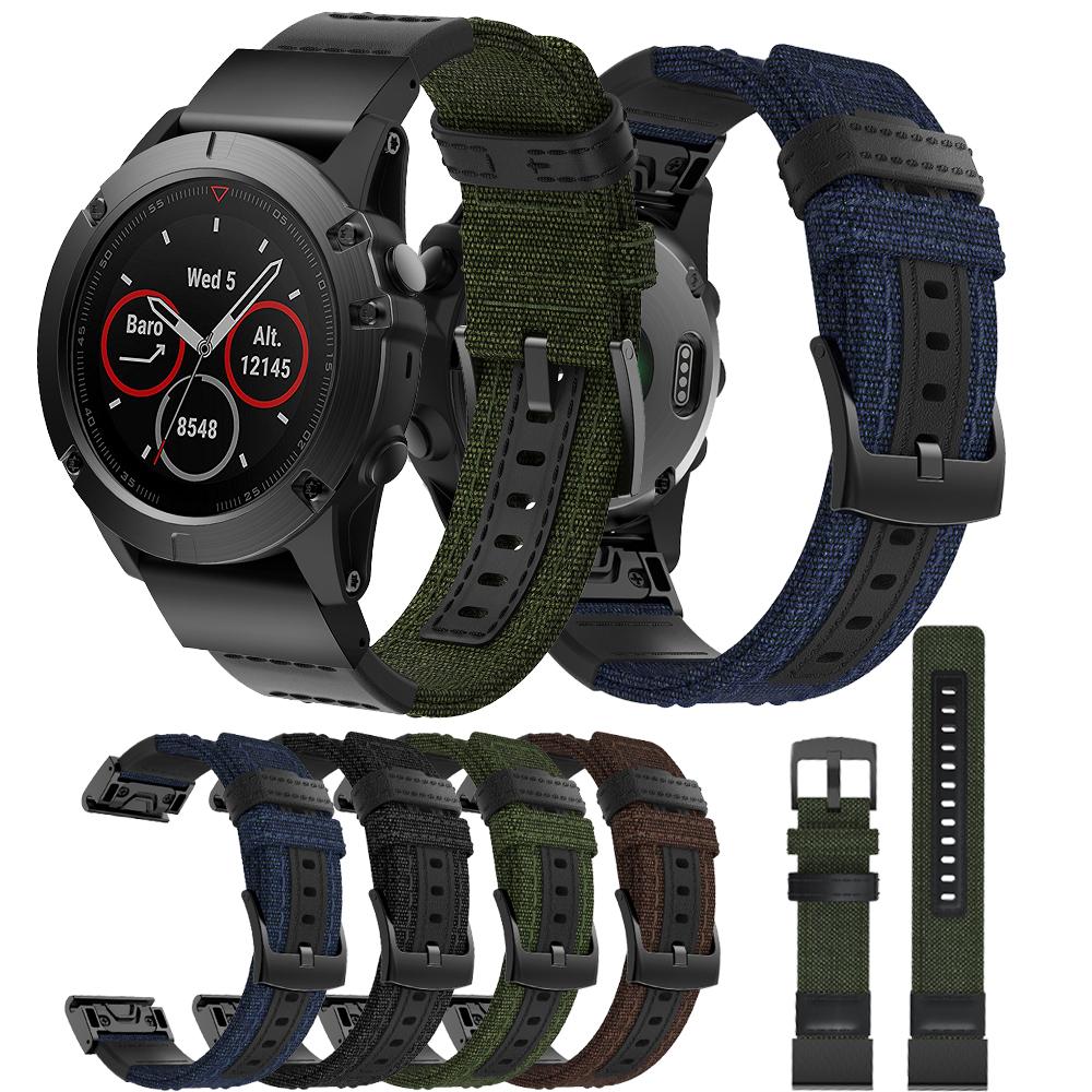 שחרור מהיר בד להקת שעון עבור Garmin Fenix 5X Easyfit בד שעון רצועת Wristbands