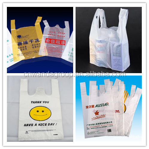 Reusable shopping t shirt plastic bag buy t shirt for Reusable t shirt bags