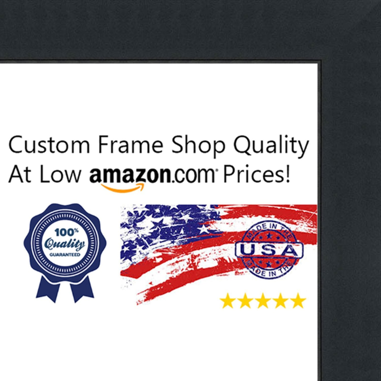 Poster Palooza 16x24 Contemporary Black Wood Shadow Box Frame - UV Acrylic, Acid Free Backing, Hanging Hardware Included!