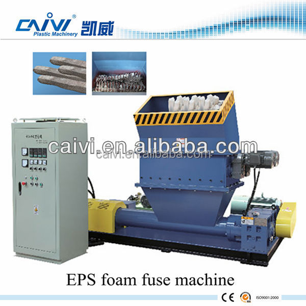 Plastic EPS foam recycling system/plastic recycling machine for PS
